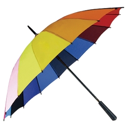 16骨彩虹直桿雨傘