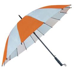 16骨拼色商務直桿傘