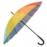 16骨彩虹色銀膠內層直傘