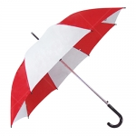 拼色直桿廣告傘