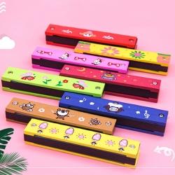 Wooden harmonica for school opening