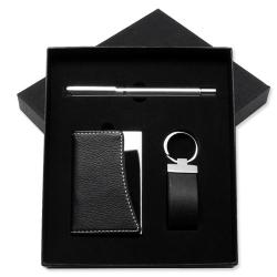 名片盒+鑰匙扣+寶珠筆套裝