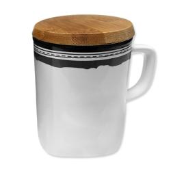 木蓋陶瓷杯