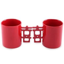 喜字柄陶瓷杯
