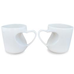 心形柄陶瓷杯