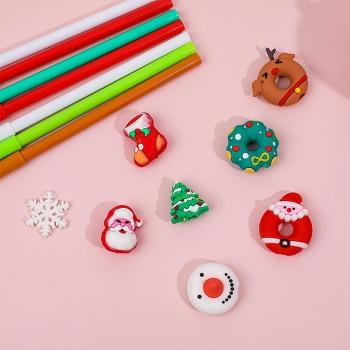 聖誕卡通甜甜圈中性筆
