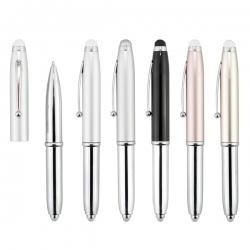 三合一金屬筆-銀色