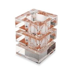 方形長柱狀水晶筆筒
