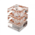 Square Shape Crystal Pen Holder