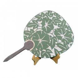 和風剪紙竹柄團扇