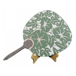 Japanese Style Paper-cut Pattern Bamboo Handle Fan
