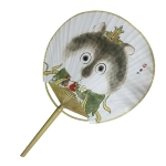High-end Japanese Style Bamboo Circular Fan