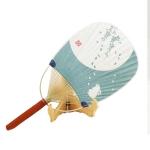 Japanese Style Bamboo Circular Fan