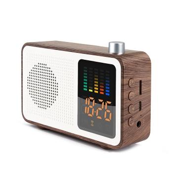 復古木紋藍芽智能音箱