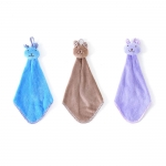 Hanging coral fleece hand towel