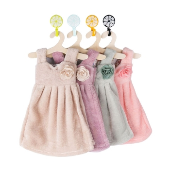 連衣裙加厚珊瑚絨擦手巾