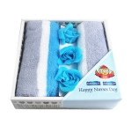 Soap Flower Towel Set