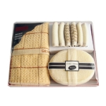 Bath Towel+Bath Sponge+Towel Gift Set