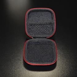 方形草席紋耳機包