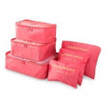 Waterproof six-piece storage travel bag