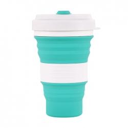 創意矽膠摺疊水杯便攜咖啡杯
