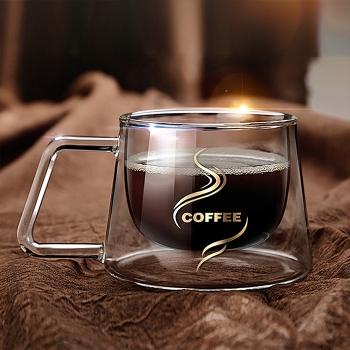雙層透明咖啡杯