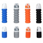 Foldable silicone sport water bottle