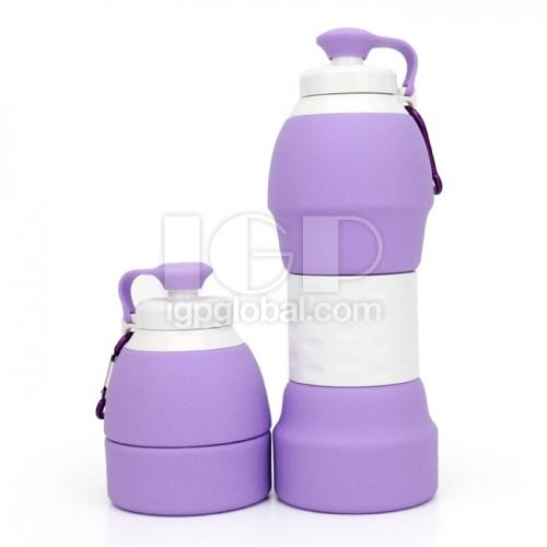 Foldable silicone travel kettle