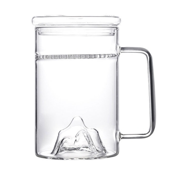 Transparent moutain view glass