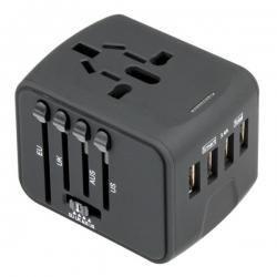 4 USB旅行插頭