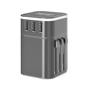 彩色三USB全球通用旅行轉換插座