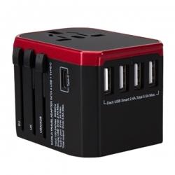 Type-C加4 USB全球通用旅行插頭
