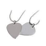 Metal Guitar Pick Necklace