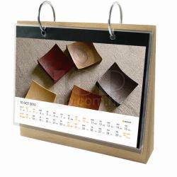 天然木座枱曆